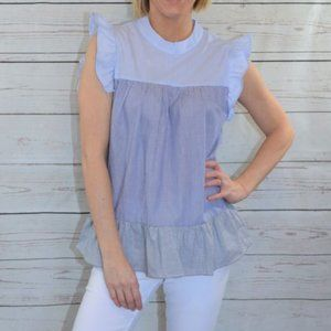 Striped Perfection Ruffle Top